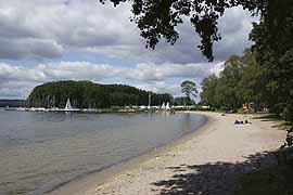 Strand in Bosau am Großen Plöner See