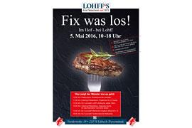 Plakat Hoffest der Fleischerei Lohff in Lübeck-Travemünde