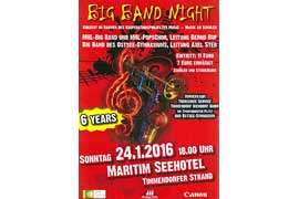 Plakat Big Band Night im Maritim Seehotel 2016