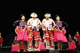 Bolivien auf dem europäischen folklore festival in Neustadt in Holstein