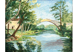 "Winston Churchill - ""The Bridge at Aix-en-Provence"" © Sax-Farben, Churchill Heritage Ltd."