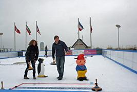 Dünenmeile on ice in Scharbeutz