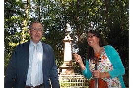 Juri Majorski und Petra Marcolin