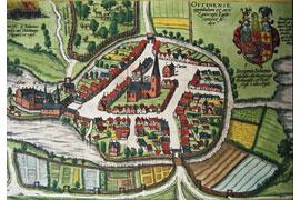 Ausschnitt aus der Eutin-Karte aus Georg Braun / Franz Hogenberg: Civitates Orbis Terrarum (um 1598) © Eutiner Landesbibliothek