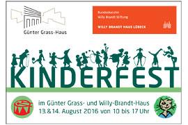 Plakat 10. Kinderfest im Willy-Brandt-Haus und Günter Grass-Haus in Lübeck