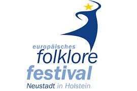 Logo europäisches folklore festival in Neustadt in Holstein