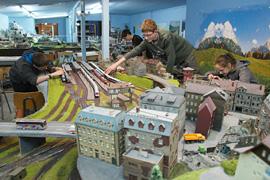 Modelleisenbahn-Anlage der Train-Kids Eutin
