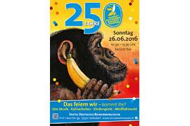 Plakat 25 Jahre Bananenmuseum 2016