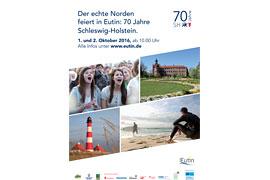 Plakat 70 Jahre Schleswig-Holstein in Eutin