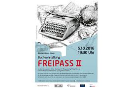 Plakat Buchvorstellung Freipass 2