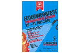 Plakat Feuerwehrfest in Timmendorfer Strand