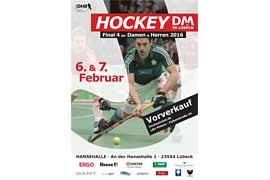 Plakat Endrunde DM Hallenhockey Damen und Herren in Lübeck