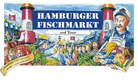 Plakat Hamburger Fischmarkt auf Tour