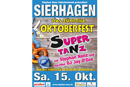Plakat Supertanz Oktoberfest © Stephan Nanz Entertainment