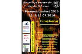Plakat Promenadenfest der Freiwilligen Feuerwehr Niendorf 2016