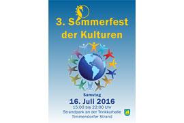 Plakat Sommerfest der Kulturen 2016