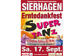 Plakat Supertanz Erntedankfest © Stephan Nanz Entertainment