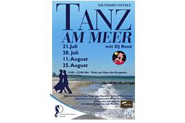 Plakat Tanz am Meer Niendorf/Ostsee