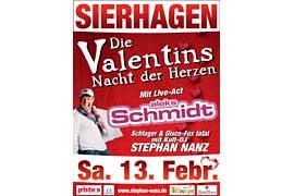 Plakat Valentins Nacht der Herzen