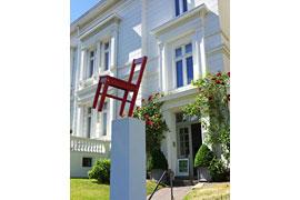 Roter Stuhl der Tage der offenen Ateliers © Per Köster