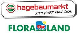 Logo hagabaumarkt FLORALAND Lübeck