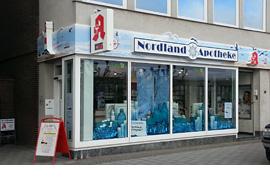 Nordland-Apotheke, Vorderreihe 39 in Lübeck-Travemünde