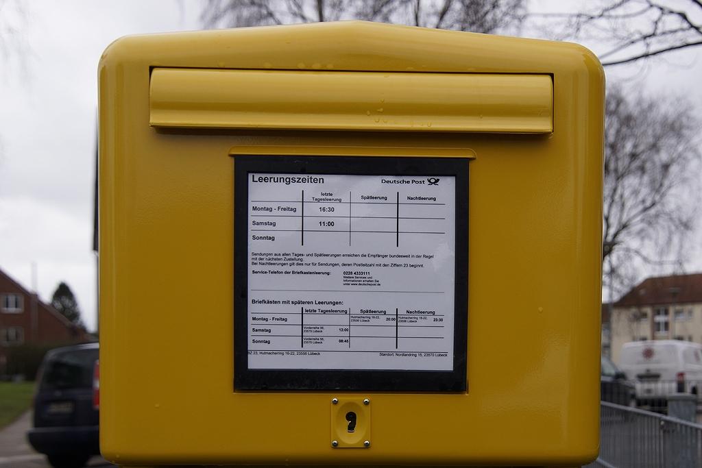 Briefkasten Bilder briefkästen und leerungszeiten in travemünde info travemünde