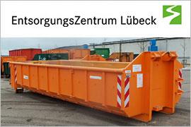 Container des EntsorgungsZentrums Lübeck
