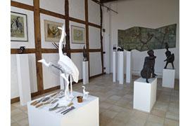 Ausstellungsraum im Karlheinz Goedtke-Haus in Mölln © Karlheinz Goedtke-Haus