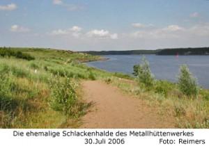 Die ehemalige Schlackenhalde am Dummersdorfer Ufer