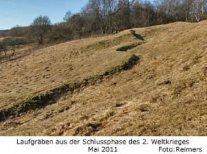 Laufgräben aus der Schlussphase des 2. Weltkrieges am Dummersdorfer Ufer