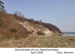 Steiluferabbruch am Meeschenhaken am Dummersdorfer Ufer