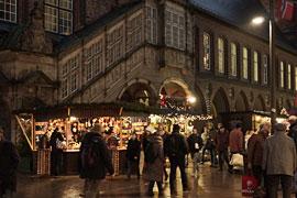 Weihnachtsmarkt Breite Straße in Lübeck