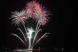 Feuerwerk in Travemünde