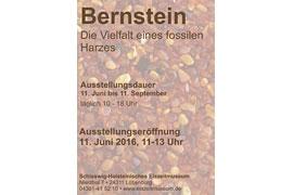 Plakat Bernstein-Ausstellung im Schleswig-Holsteinisches Eiszeitmuseum in Lütjenburg