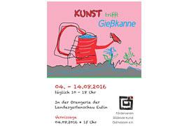 Plakat Kunst trifft Gießkanne - Landesgartenschau Eutin 2016