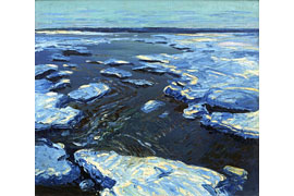 Wenzel Hablik - Eismeer, 1910 - Öl auf Leinwand