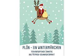 """Plakat - """"Plön - ein Wintermärchen"""""""