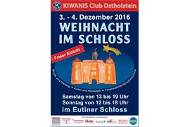 Plakat - Weihnacht im Schloss © Kiwanis Club Ostholstein